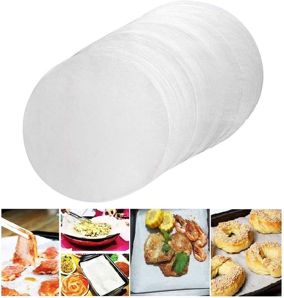 Round Barbecue Paper,Parchment Rounds,9 inch Baking Paper Liners for Baking Cakes, Cooking, Dutch Oven, Air Fryer, Cheesecakes, Tortilla Press (200 PCS)