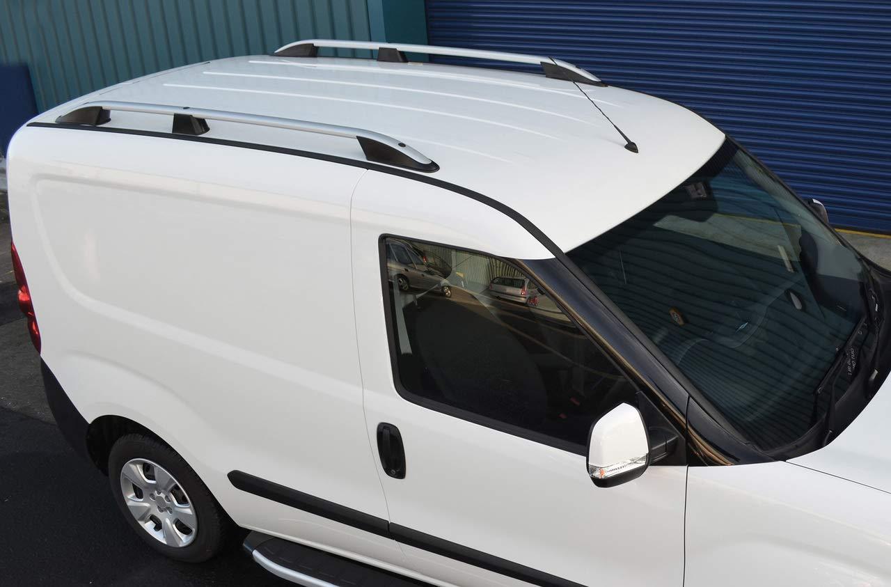 Accesorios de Aluminio para Barras Laterales de Techo para Adaptarse a SWB Caddy Alvm Parts /& 2016 +