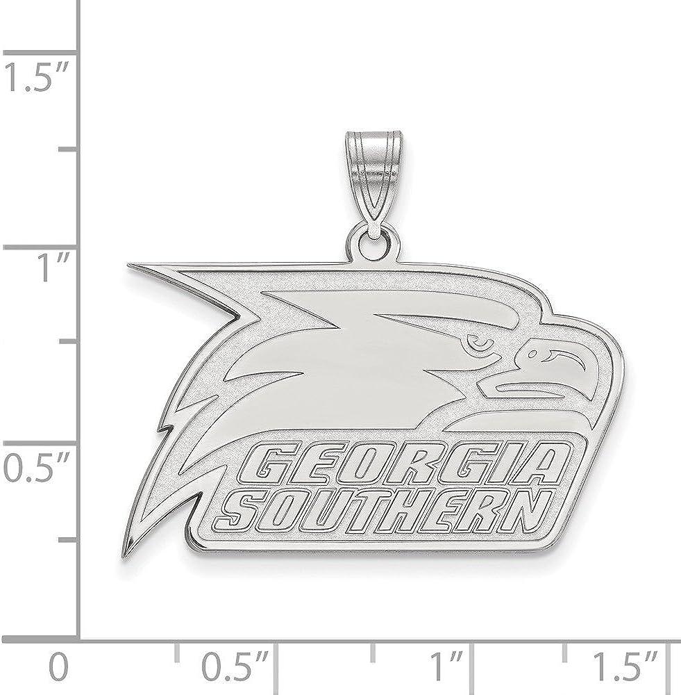 14k White Gold Georgia Southern University Eagles School Mascot Pendant