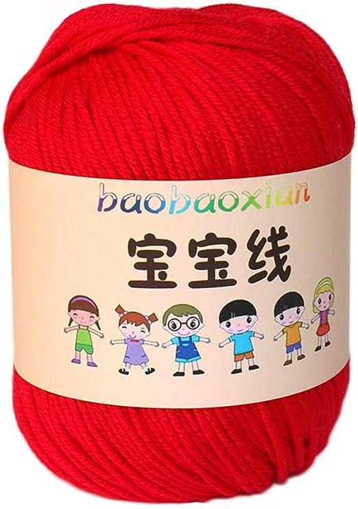 Ovillos Lanas Hilo, Lana Hilo Tejido a Mano Color Hilo de algodón ...