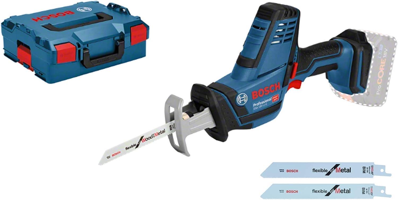 Bosch Professional GSA 18 V-LI C Sierra sable, 0 3050 cpm, profundidad de corte 200 mm, sin batería, en L-BOXX