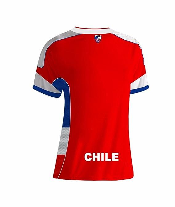 Chile Slim Mujer Soccer Jersey diseño exclusivo Copa América Centenario 2016: Amazon.es: Ropa y accesorios