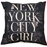 lsvtrUS 18' X 18' Cotton Linen Square Throw Pillow Case Compass Decorative Sofa Cushion Cover - New York