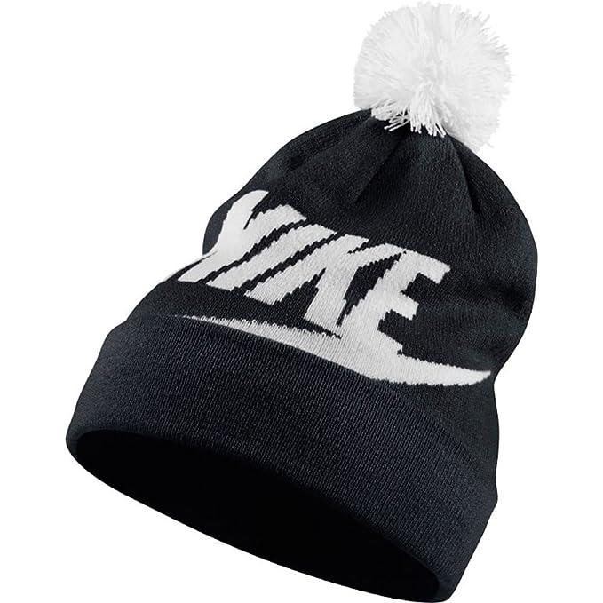 Amazon.com  Nike Women s Swoosh Pom Beanie (Black White)  Sports ... f01649f87
