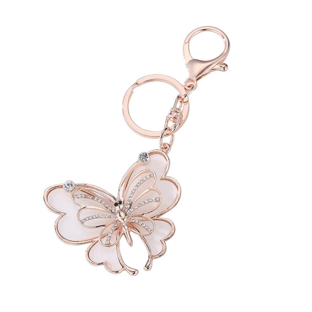 Portachiavi Yibenwanligod a farfalla, con brillanti strass, in lega, portachiavi da appendere alla borsa, decorazione a farfalla yibengod