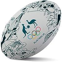 Summit Iconic Australia Kangaroo Rugby Sports Ball Indoor/Outdoor Game Size 5
