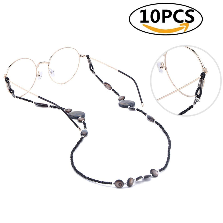 10pcs Eyeglasses Chain Shell Glass Beaded Eyeglass Straps Sunglasses Holder by RHYS DOBSON