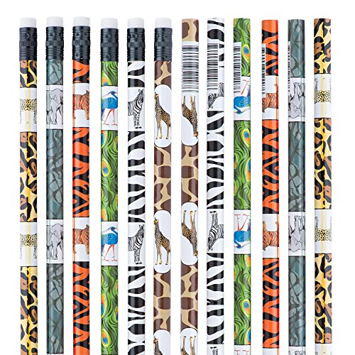 - Zoo Animal Pencils - Classroom School Supplies -50 per pack