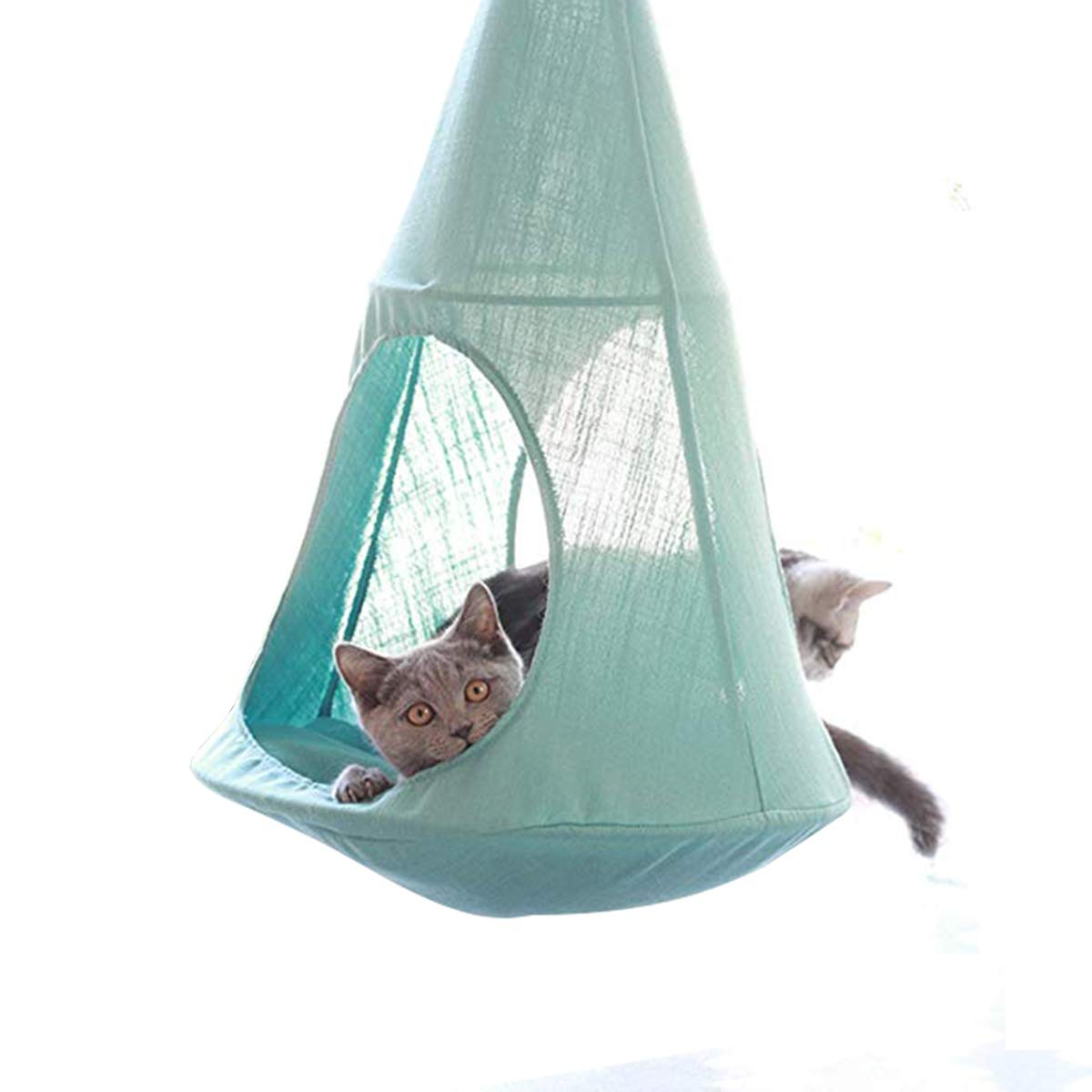 Amazon.com : ALXDR Cat Hammock Hanging Type Kitten Bed Detachable Pet Linen Sling Attic Multi-useage Breathable Loft for Summer Living, Green : Garden & ...
