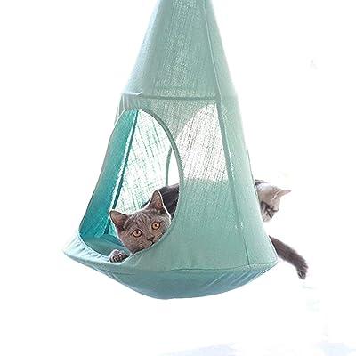 ALXDR Cat Hammock Hanging Type Kitten Bed Detachable Pet Linen Sling Attic Multi-useage Breathable Loft