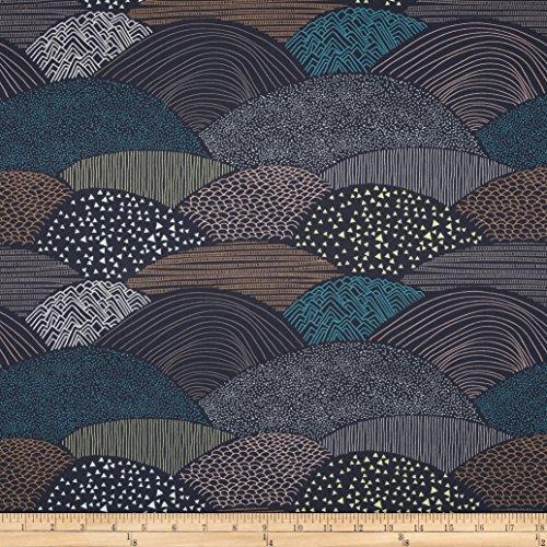 Art Gallery Fabrics 0399589 Art Gallery Hello Bear Summit Twilight Fabric by The ()