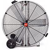 Shop-Vac Industrial Drum Fan, 36 Dia., 1/2 HP, Direct Drive, 11,000 CFM, Stainless Steel