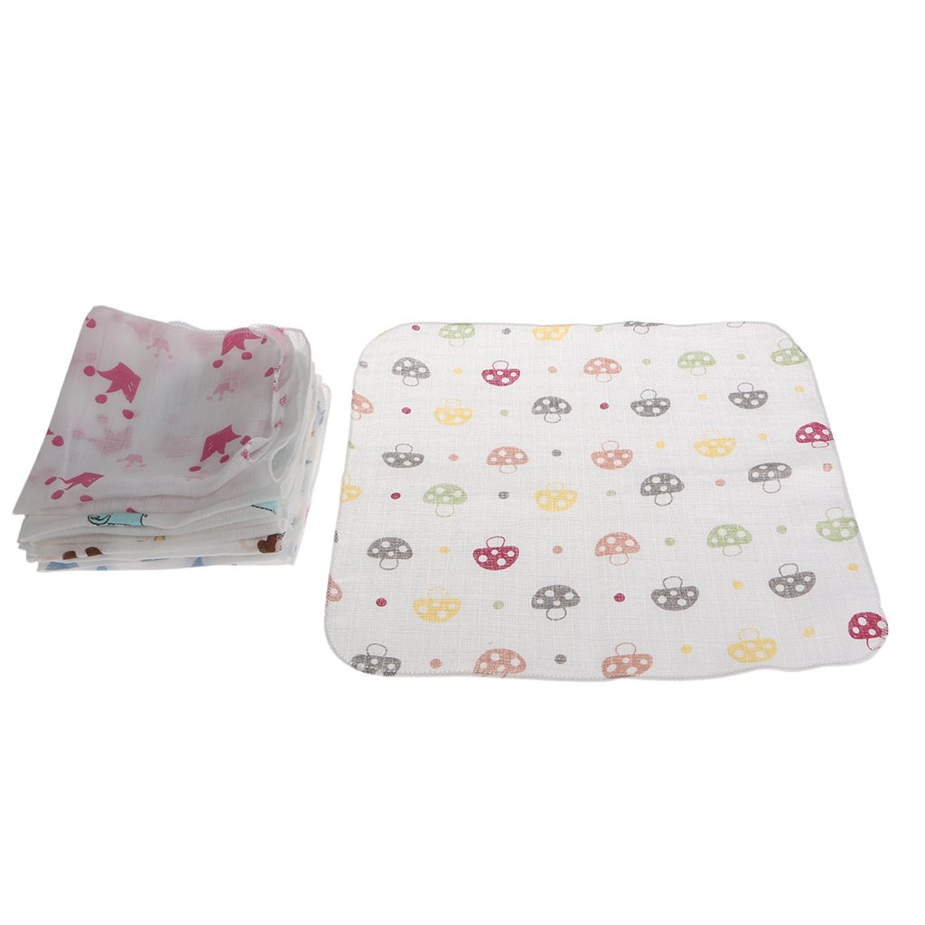 LDA Get Fresh 10pcs Fresco beb/é Toalla Infantil 28 28 cm Toalla de Muselina pa/ñuelos Dos Capas toallita de Limpieza