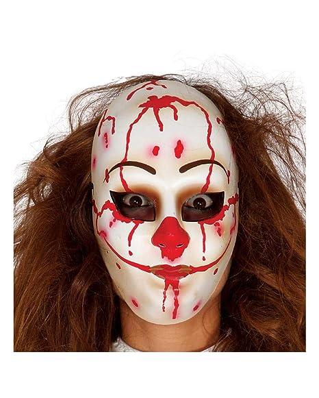 Horror Shop Maschera Killer Clown Faccia Amazon It Giochi E