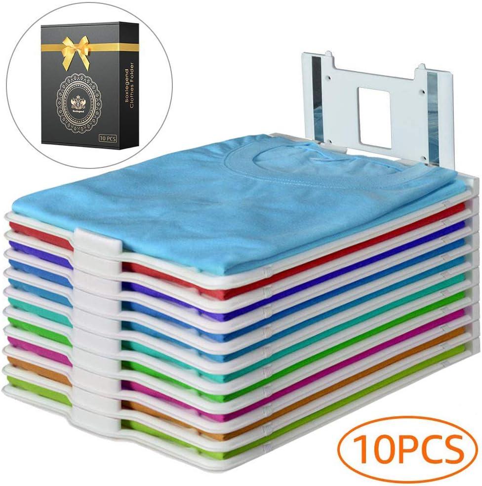 BoxLegend T Shirt Closet Organizer Sturdy Shirt Folder Stackable Clothing Trays Folding Storing Laundry Clothing Organization System 10 Pack