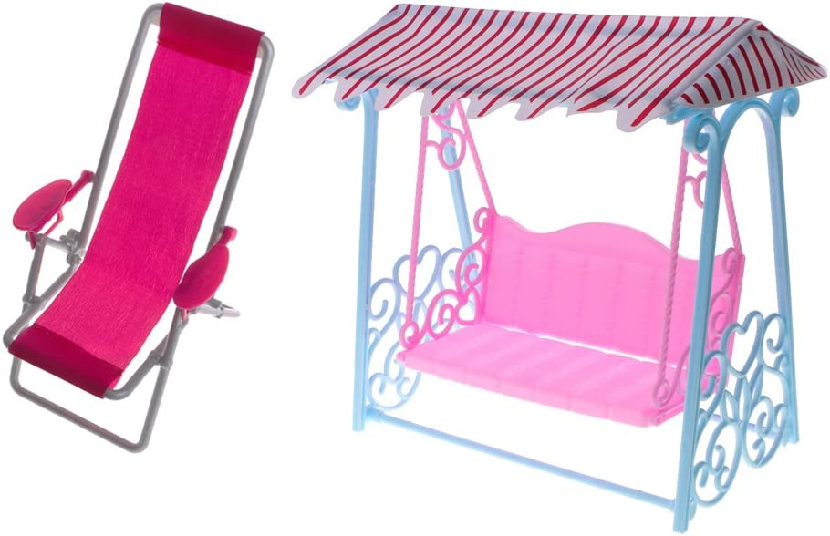 1//6 Dollhouse Mini Deck Chair Recliner for  Blythe Hot Toys Accessory