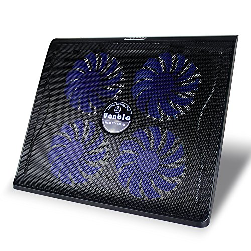Vanble Dual USB Port Portable Laptop Cooling Pad with Blu...
