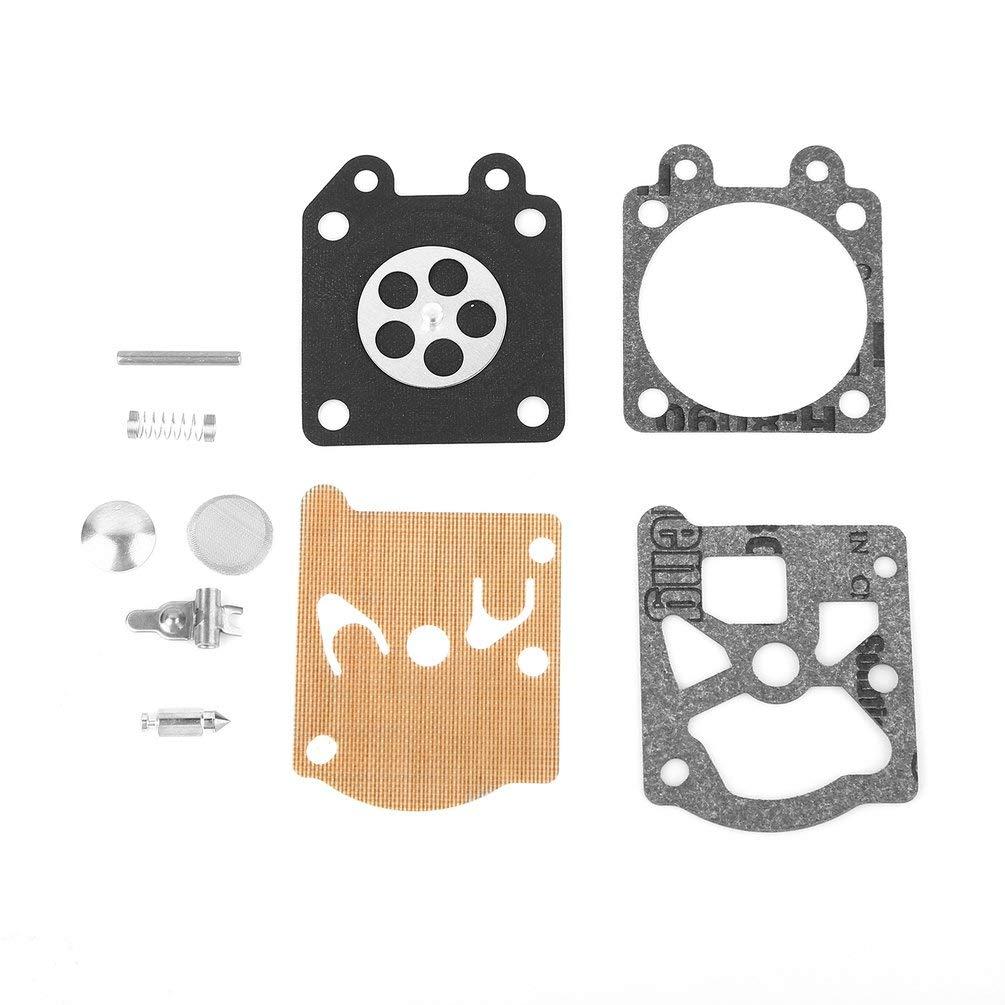 Kit de reparació n de diafragma de junta de carburador Juego de juntas de herramienta de reconstrucció n Zenoah G3800 Para junta de diafragma de ZAMA Para motosierra 45cc 38cc 52cc - Negro 1.38x1.38 / 3.5cmx3.5cm Oyamihin