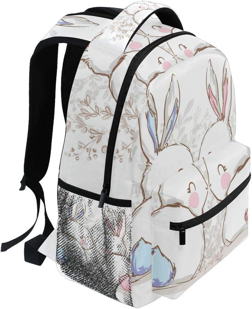 Backpack Fashion Laptop Daypack Cartoon Animal Hare Cute Travel Backpack for Women Men Girl Boy Schoolbag College School Bag Canvas