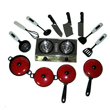 Feichen Un set Utensilios de cocina para niños Cocina de juguete ...