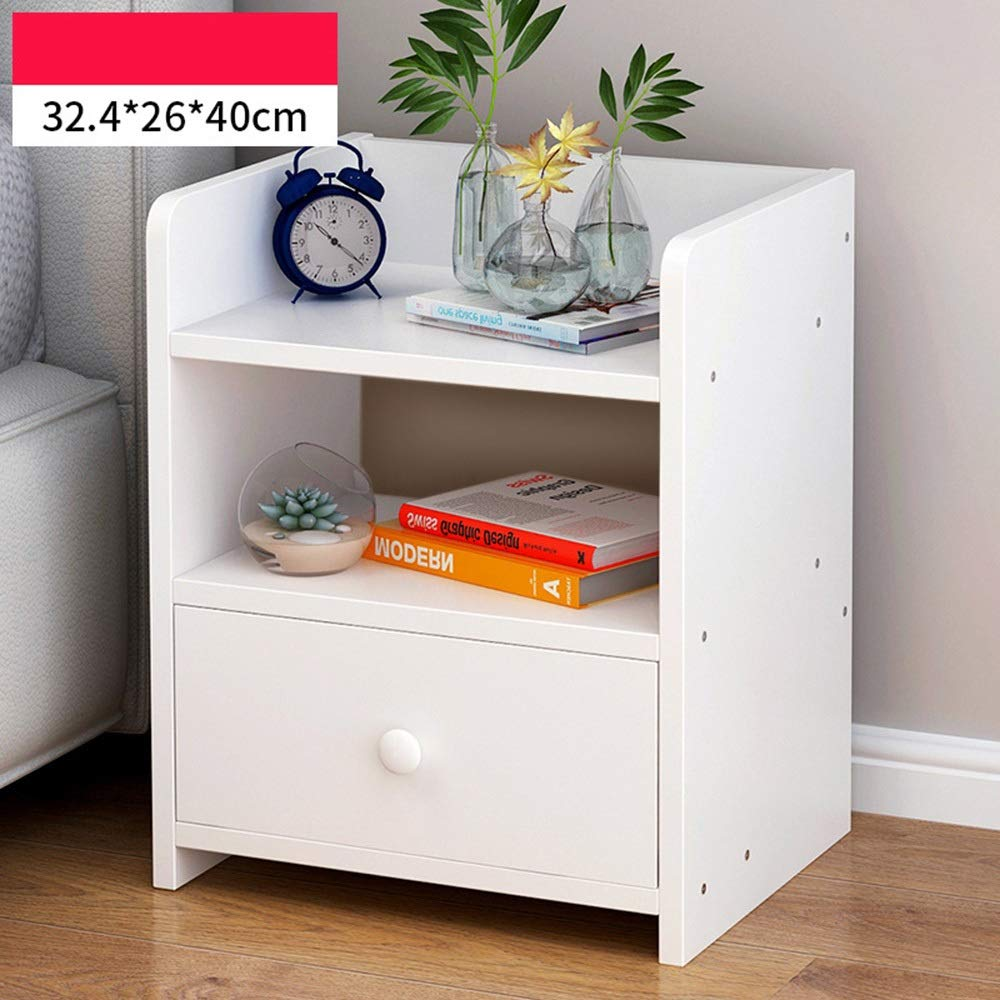 11 Sugoishop Bedside Table Simple Small Cabinet Storage Cabinet Bedroom Side Cabinet Storage Cabinet (color   11)