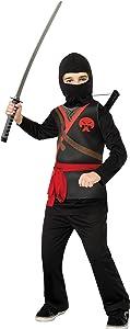 Rubie's Ninja Child's Costume, Black, Medium