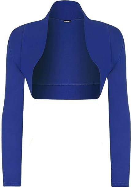 WearAll - Damen Bolero langarm Top - Königsblau - 36-38