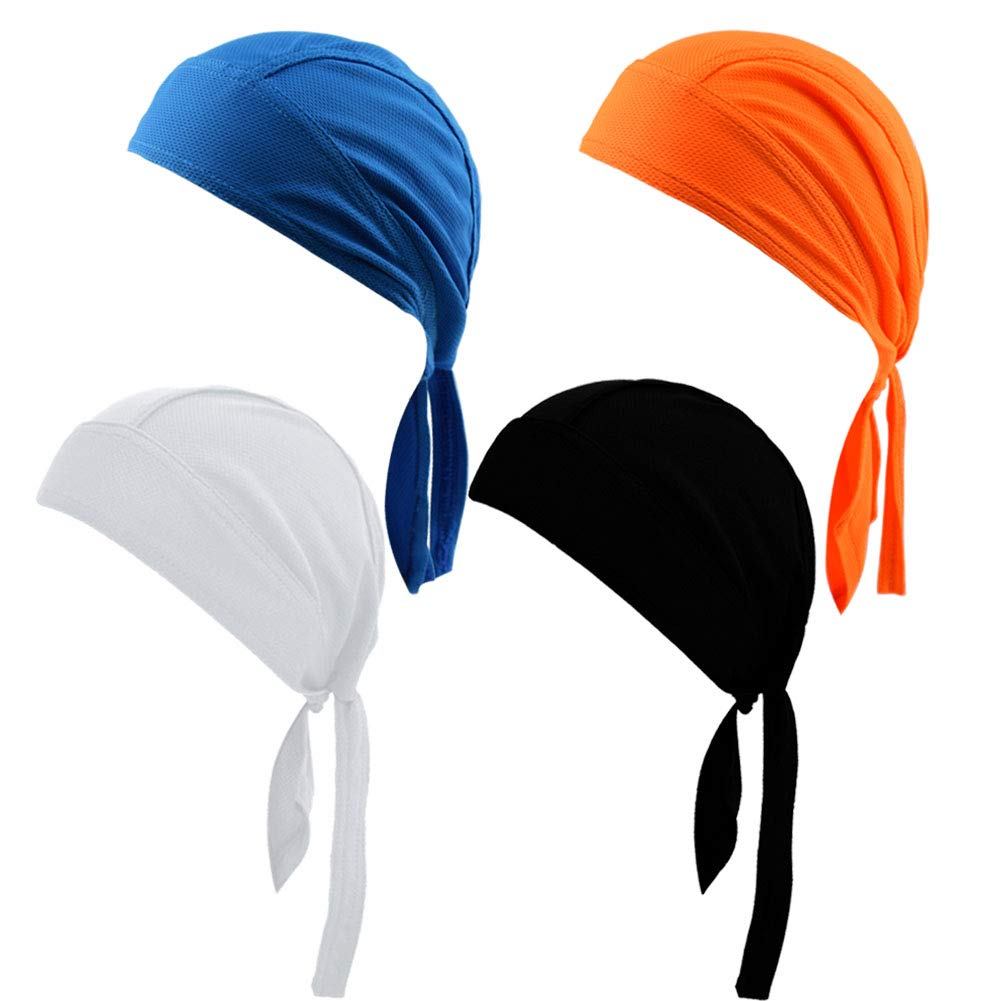 Doo Rag Bicycle Skull Caps Helmet Liner Cooling Hat Cap Summer Sweat Wicking Beanie Cap Hat for Women & Men