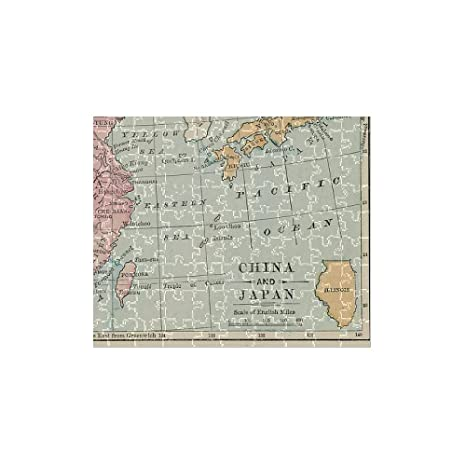 China Map Puzzle.Amazon Com Media Storehouse 252 Piece Puzzle Of China And Japan Map