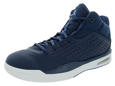 superior quality 660d6 e7df5 Nike Herren Jordan New School Fitnessschuhe Blau Weiß (Midnight  Navy Soar-White