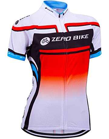 5806672f0 ZEROBIKE Women s Short Sleeve Cycling Jersey Jacket Cycling Shirt Quick Dry  Breathable Mountain Clothing Bike Top