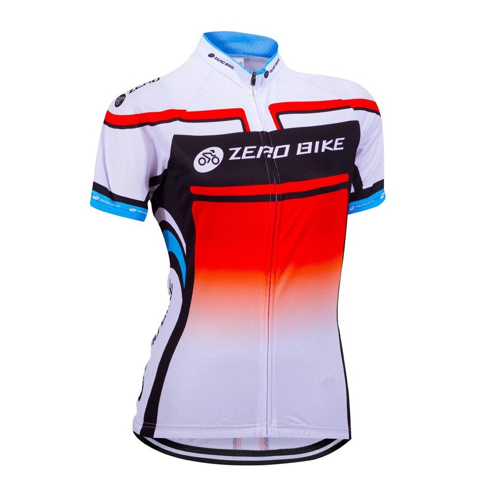 ZEROBIKE Women/Ladies Short Sleeve Cycling Jersey Shirt karru