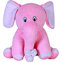 Buttercup Soft Plush Fabric Stuffed Elephant with Cute Trunk and Plush Body ( Pink ) 30Cm