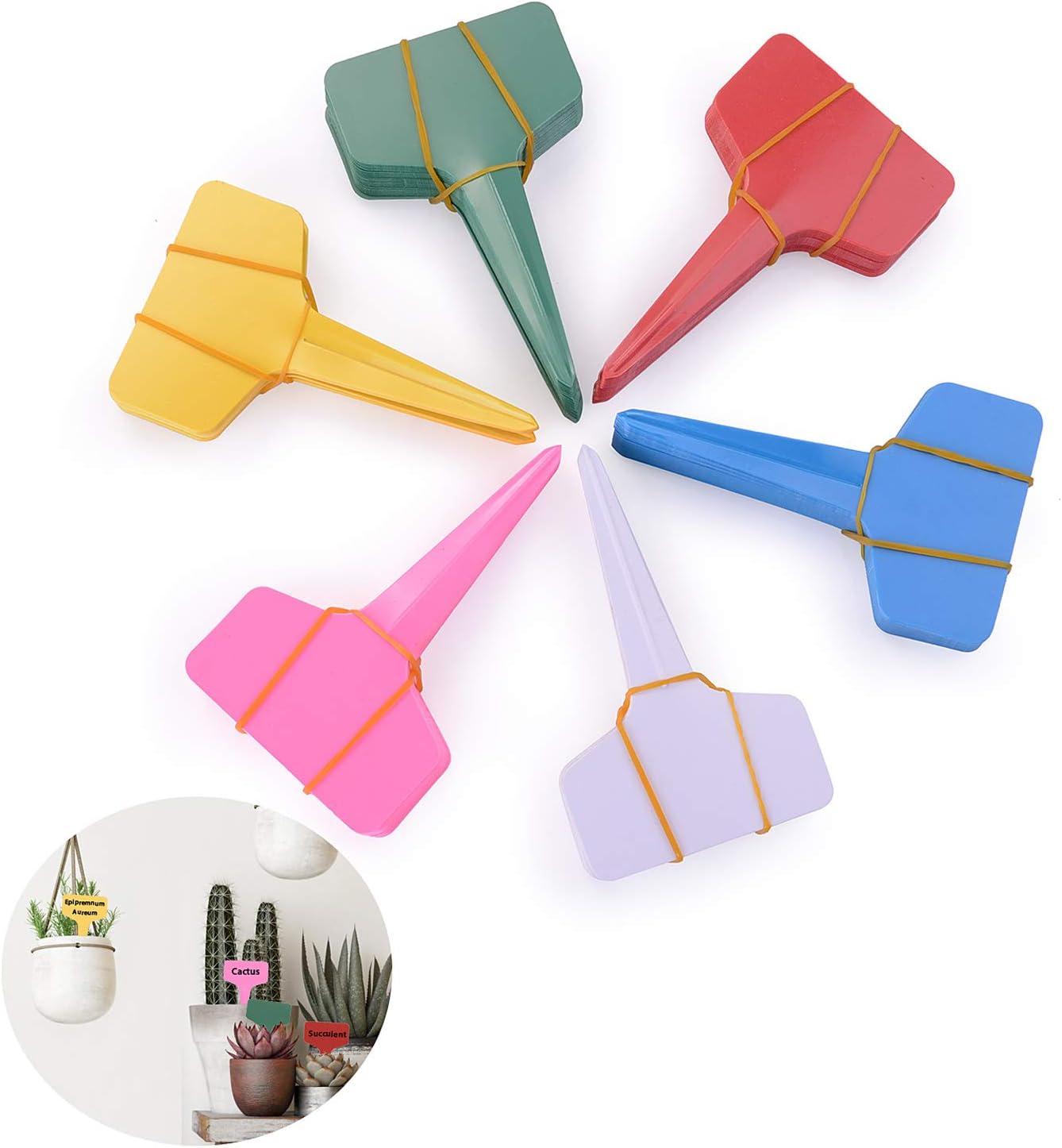 Ulikey 180 Pcs Planta Marcadores, Marcadores de Plástico en Forma de T, 10 x 6 cm, para Etiquetado de Las Plantas Reutilizable Etiquetas