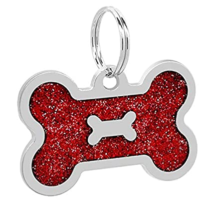 Amazon com: Dog Accessories - Bone Shape Alloy Dog Id Name