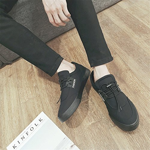 Size Shoes Sneakers Color Lace and Low Shoes Red Casual 39 White Black Fashion Men's Deck Sneakers Canvas Academy HUAN Top A up xvRFC4q7w7