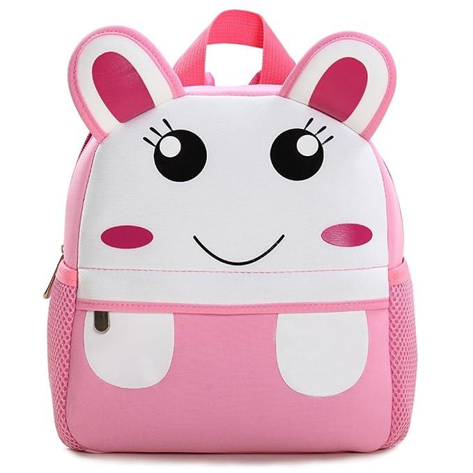 95361c333610b Tinksky Cartoon Student Rucksäcke Kinder Satchel Bag Wasserdichte  Kindergarten Lunch Bag (Kaninchen)