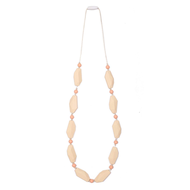 Organic Wooden Silicone Breastfeeding Teething Sensory Necklace Beads Mum /& Baby