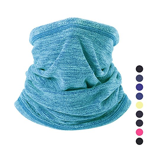 Neck Gaiter Unisex (Peicees Fleece Neck Warmer Neck Gaiter Neck Rolls, Ear Warmer Headband Face Mask Beanie, Ultimate Thermal Retention, Versatility & Stylish Unisex for Men/Women/Girls/Boys/Kids(Lake Blue))