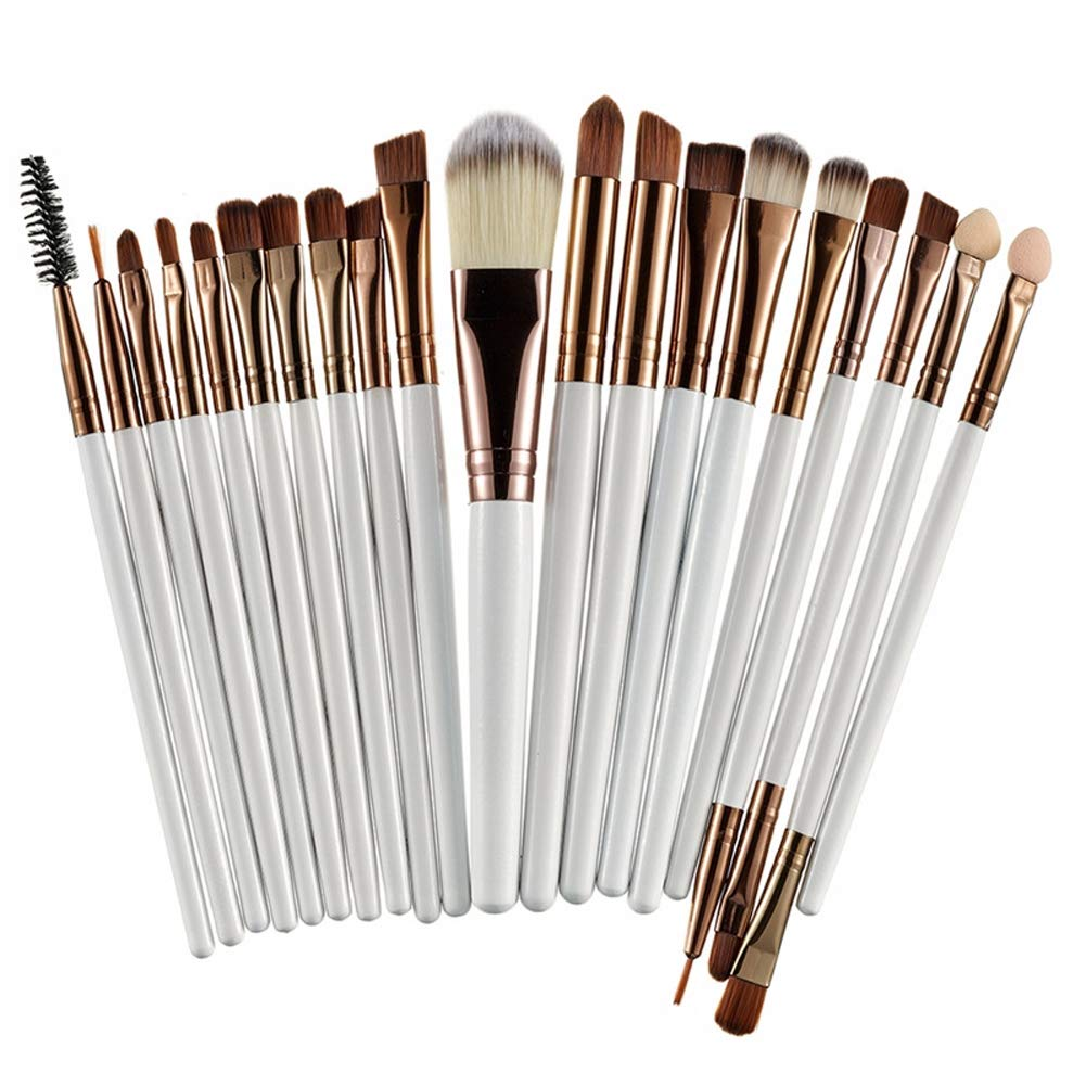 Makeup Brush Set Professional Face Eye Lip Foundation Blush 20 Pieces Makeup Brushes Powder Liquid Cream Cosmetics Blending Brush Tool