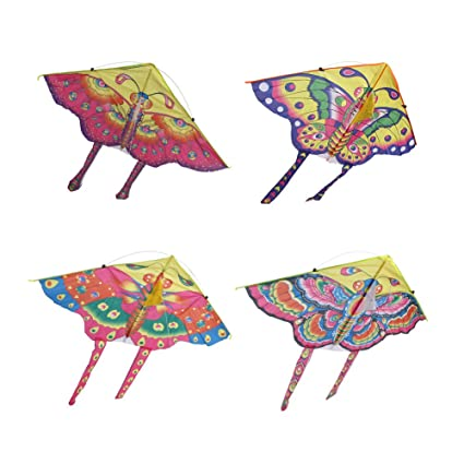 Funcoco Butterfly Kite Easy Flyer Kite For Kids Easy To Assemble