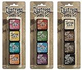Ranger Tim Holtz Distress Mini Ink Pad Kits #1, #2 and #3 Bundle