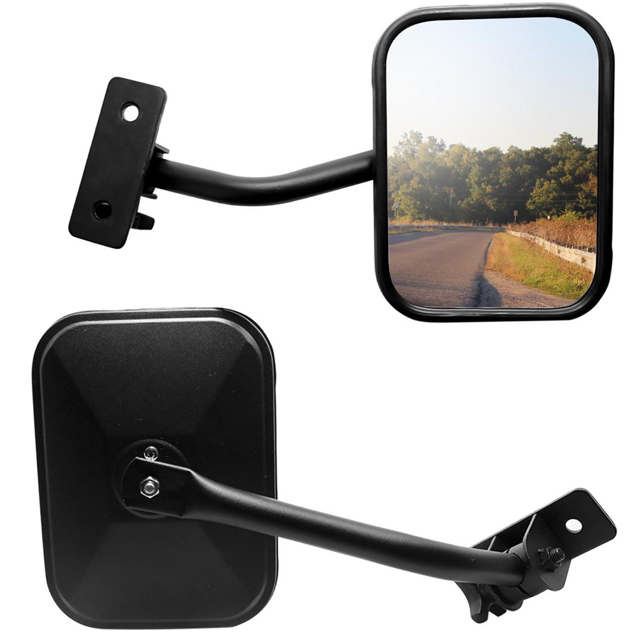 Door Off Side Mirrors Fit Jeep Wrangler Jk Jku Cj Tj Yj Dedc Safari View New