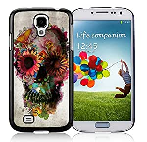 Individual Samsung Galaxy S4 Case Art Skull Cool Silicone Soft Black Cell Phone Covers for Guys