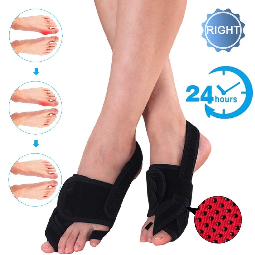 CXDM Bunion Corrector Pain Relief Overlapping Toe Big Bones Hallux Valgus Orthosis Unisex Effective and Comfortable Correction Splint,Right,Small by CXDM