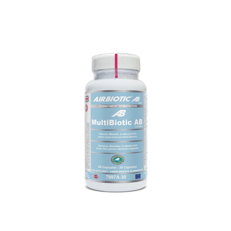 Airbiotic AB - MultiBiotic AB - Ahora En Cápsulas - Multinutrientes , Multivitaminas para el día a día - 30 Cápsulas: Amazon.es: Salud y cuidado personal