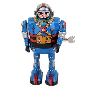 Juguete Hojalata De Robot Cuerda Astronauta sQdhrxotBC
