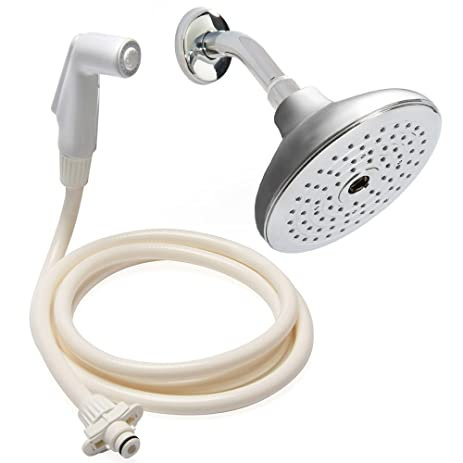 Rinse Ace 2 In 1 Convertible Rainfall Showerhead, Tahoe Satin Nickel