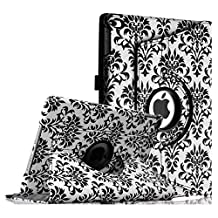 Fintie iPad Air 2 Case - 360 Degree Rotating Stand Case with Smart Cover Auto Sleep / Wake Feature for Apple iPad Air 2 (iPad 6) 2014 Model, Versailles