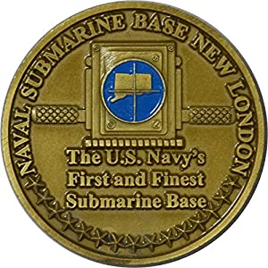 Naval Submarine Base, New London Challenge Coin by Military Productions